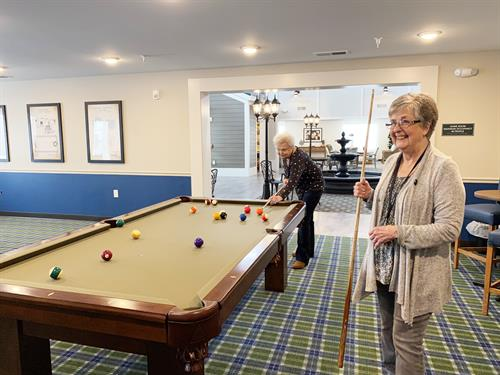 Game room with pool and ping pong