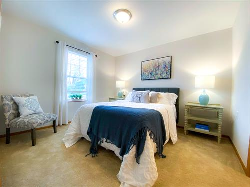 Large bedrooms with walk in closets