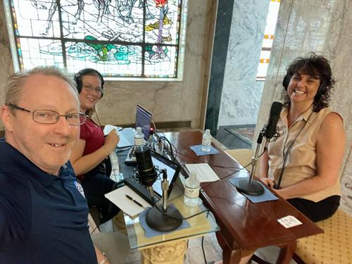 Podcast and Video production at Woodland Cemetery in Dayton