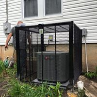 Theft prevention cage for the air conditioner,