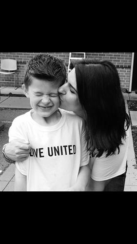United Way Volunteer mother & son
