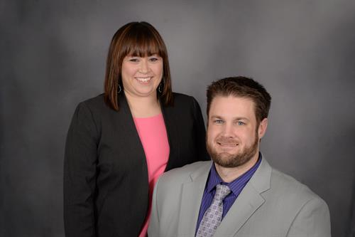 Attorney Chris Beck and Office Manager Jennifer Beck