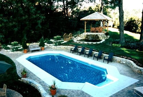 """Grecian"" style pool in Vandalia"