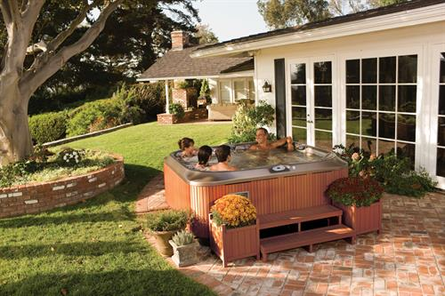 Jacuzzi will beautify your patio!