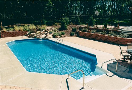 """Grecian"" style pool in Bellbrook"