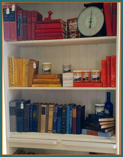 We have tons of old vintage books - great for reading or decorating