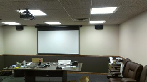 Projector and sound system install