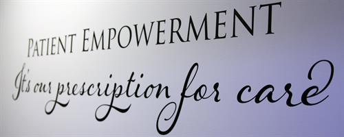 Patient empowerment motto