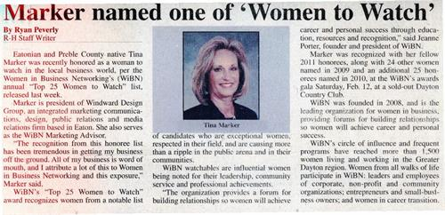Tina Marker - Women in Business Networking Top 25 Women to Watch