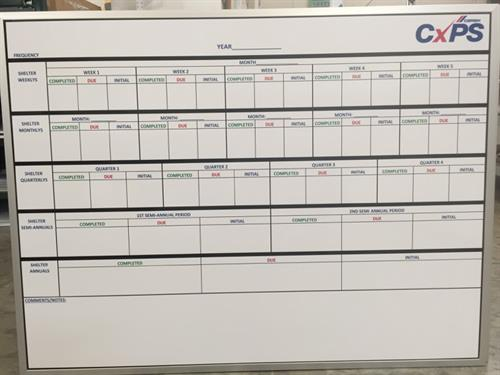 Dry erase boards are perfect for keeping track of projects.