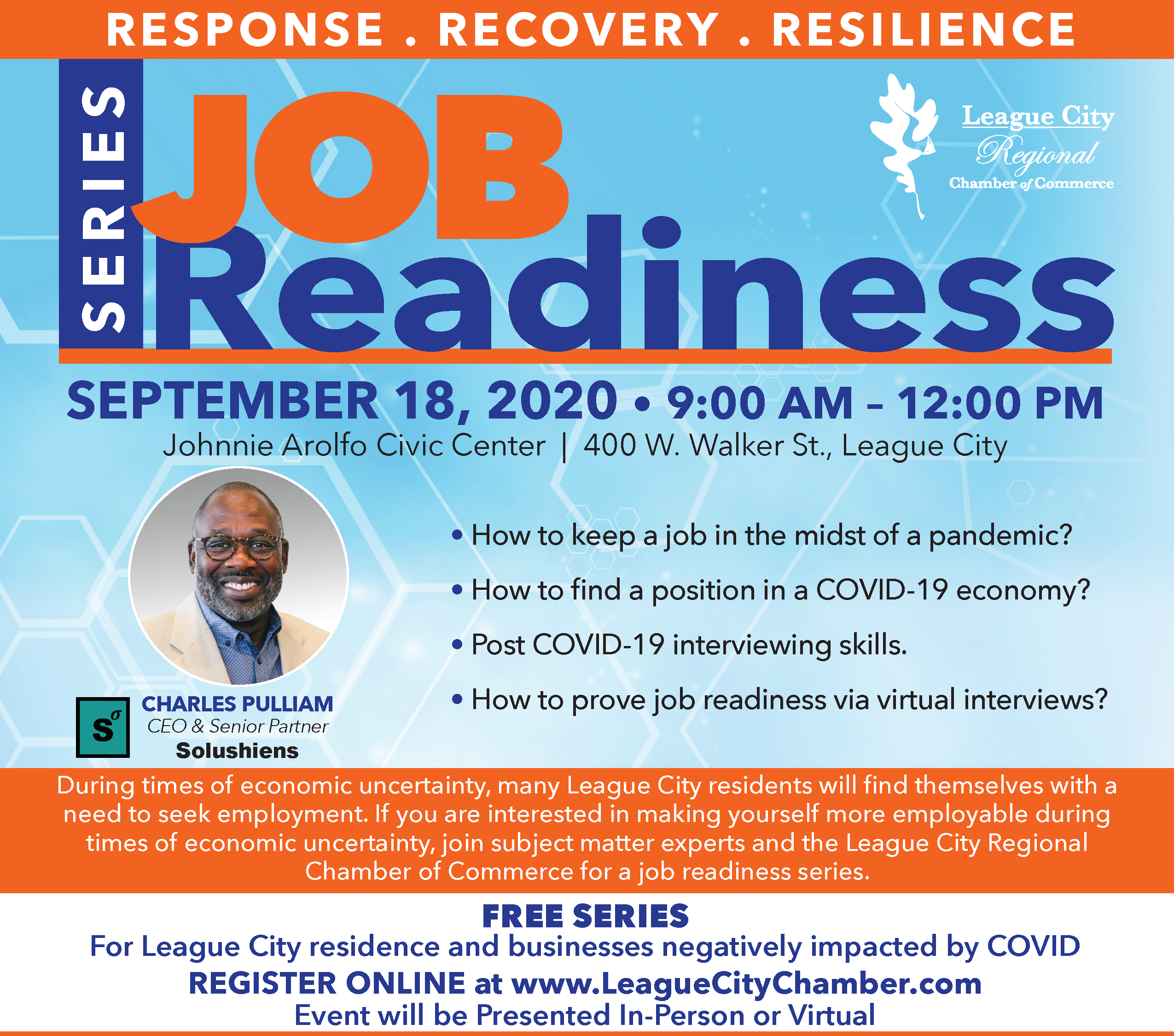 Image for ANNOUNCEMENT: League City Chamber of Commerce to host job readiness seminar