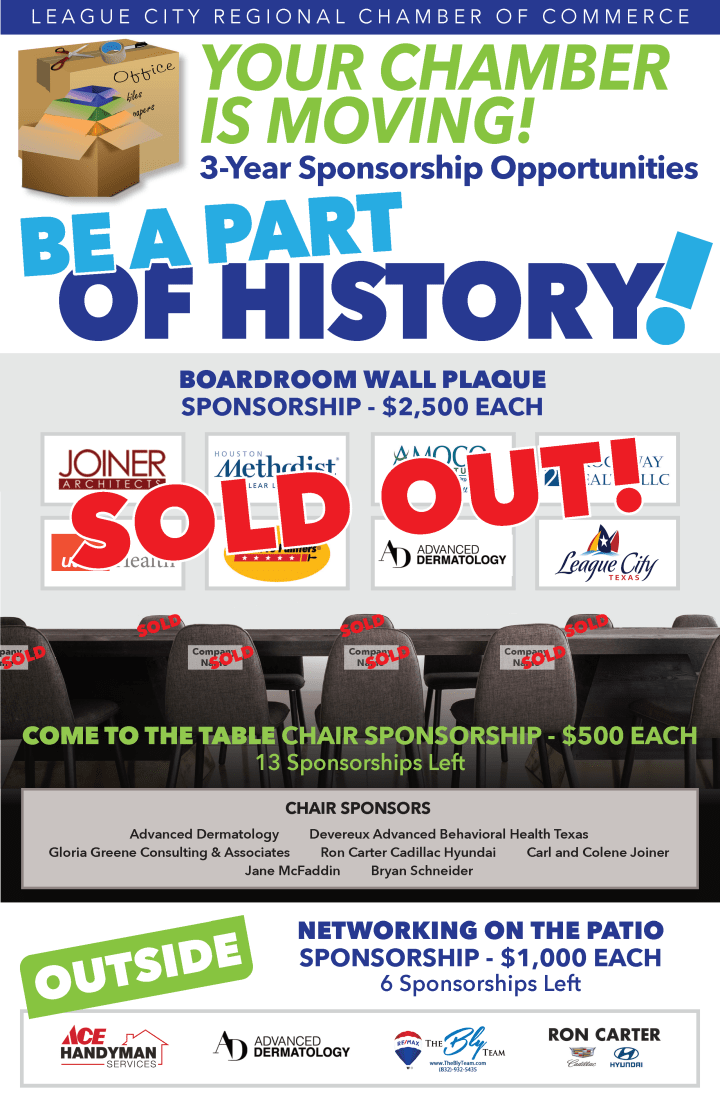 Be part of history as your chamber is on the move!