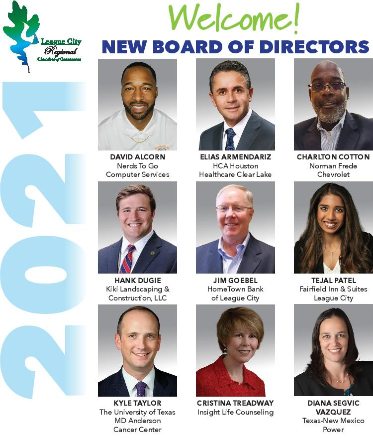 NEWS RELEASE: League City Chamber welcomes new board members