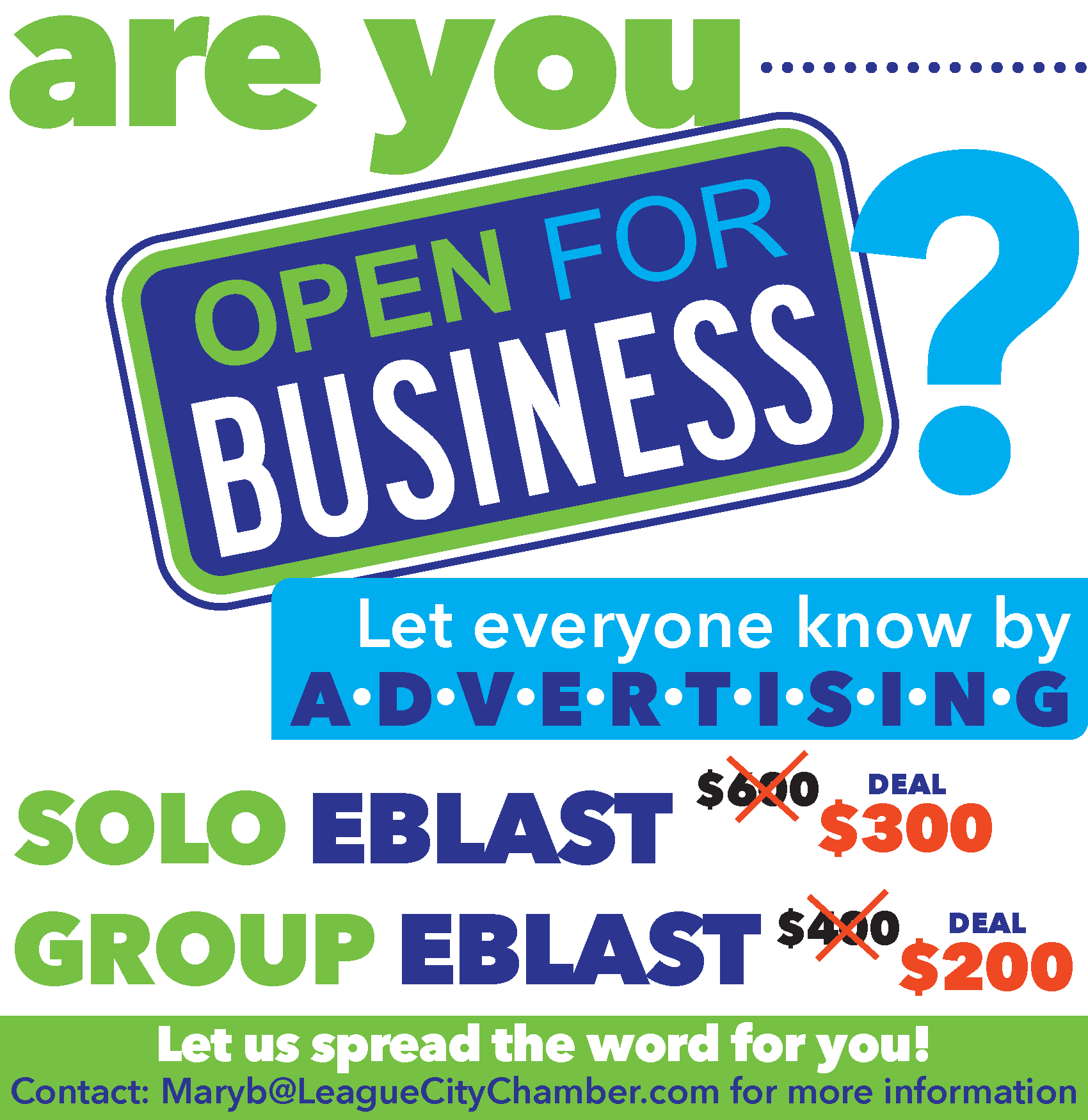 Take advantage of advertising with your chamber before the year ends!