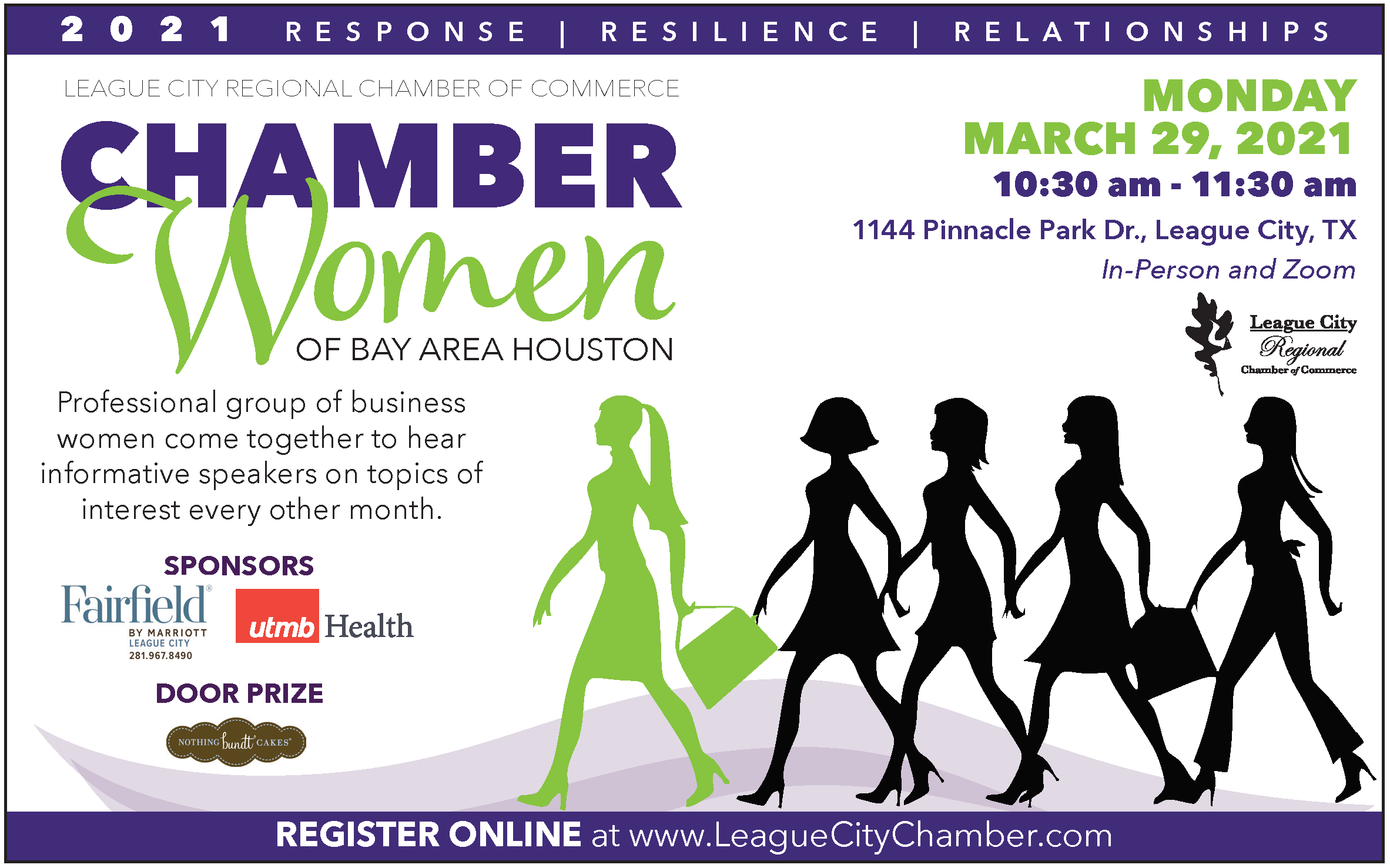 "Attend your chamber's ""Chamber Women of Bay Area Houston"" event!"