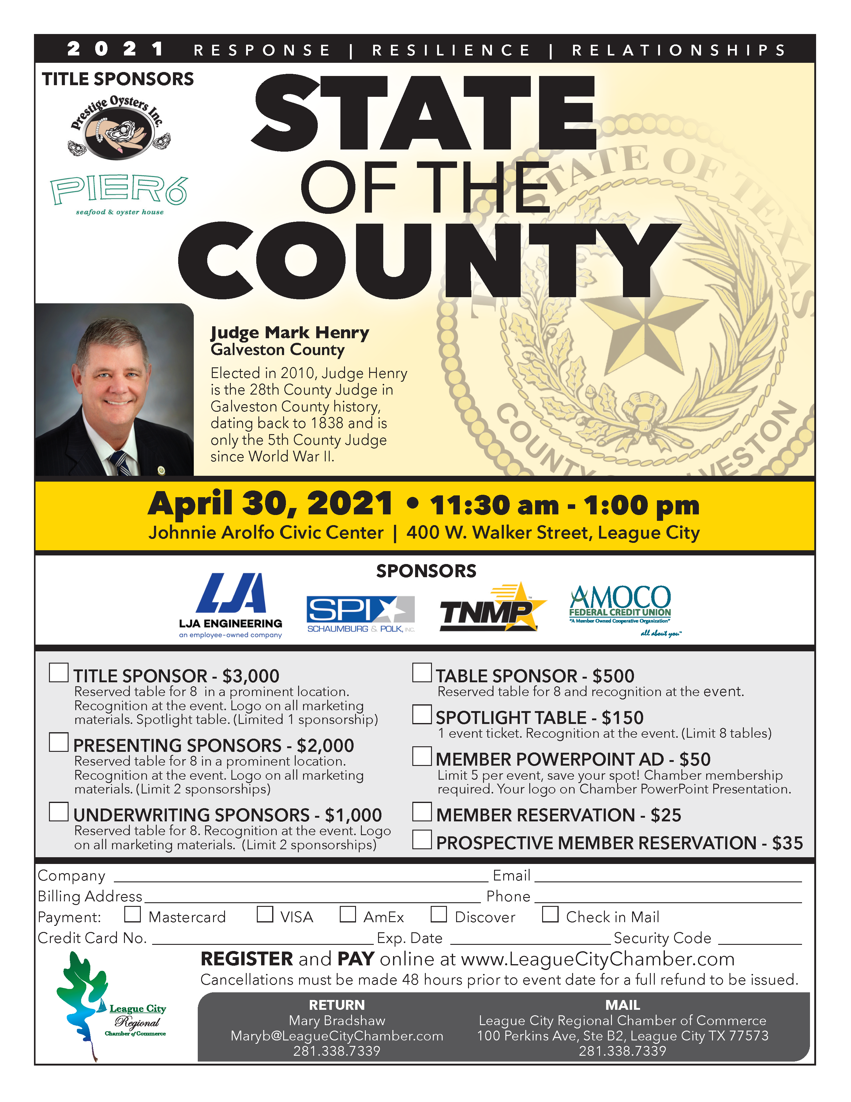 Image for PRESS RELEASE: Don't miss your chamber's State the of the County!
