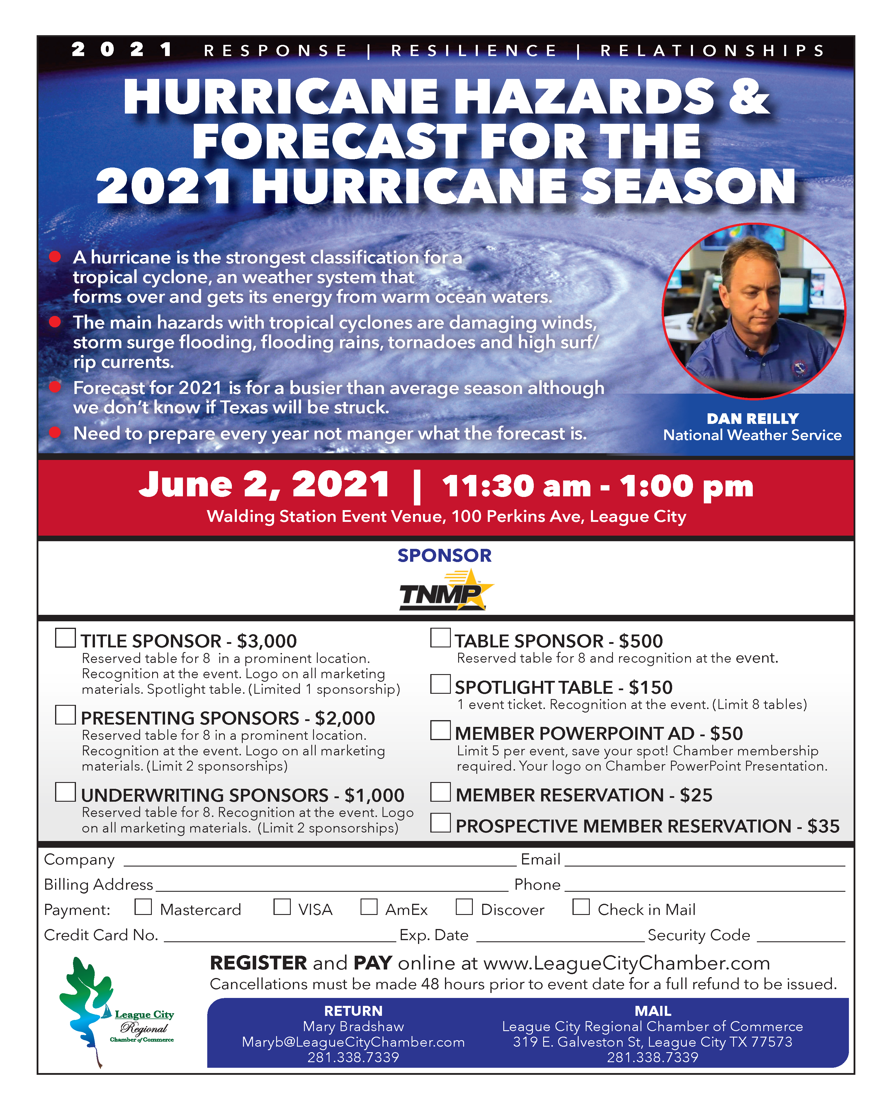 Image for PRESS RELEASE: Attend the Hurricane Hazards & Forecast for the Hurricane Season