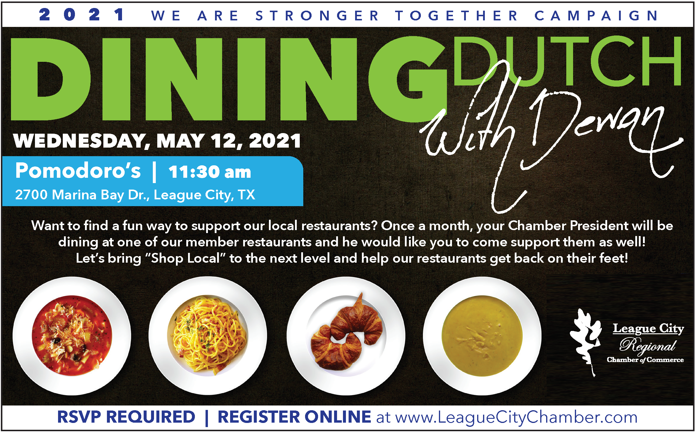 Image for Don't miss the chance to dine with your Chamber President!