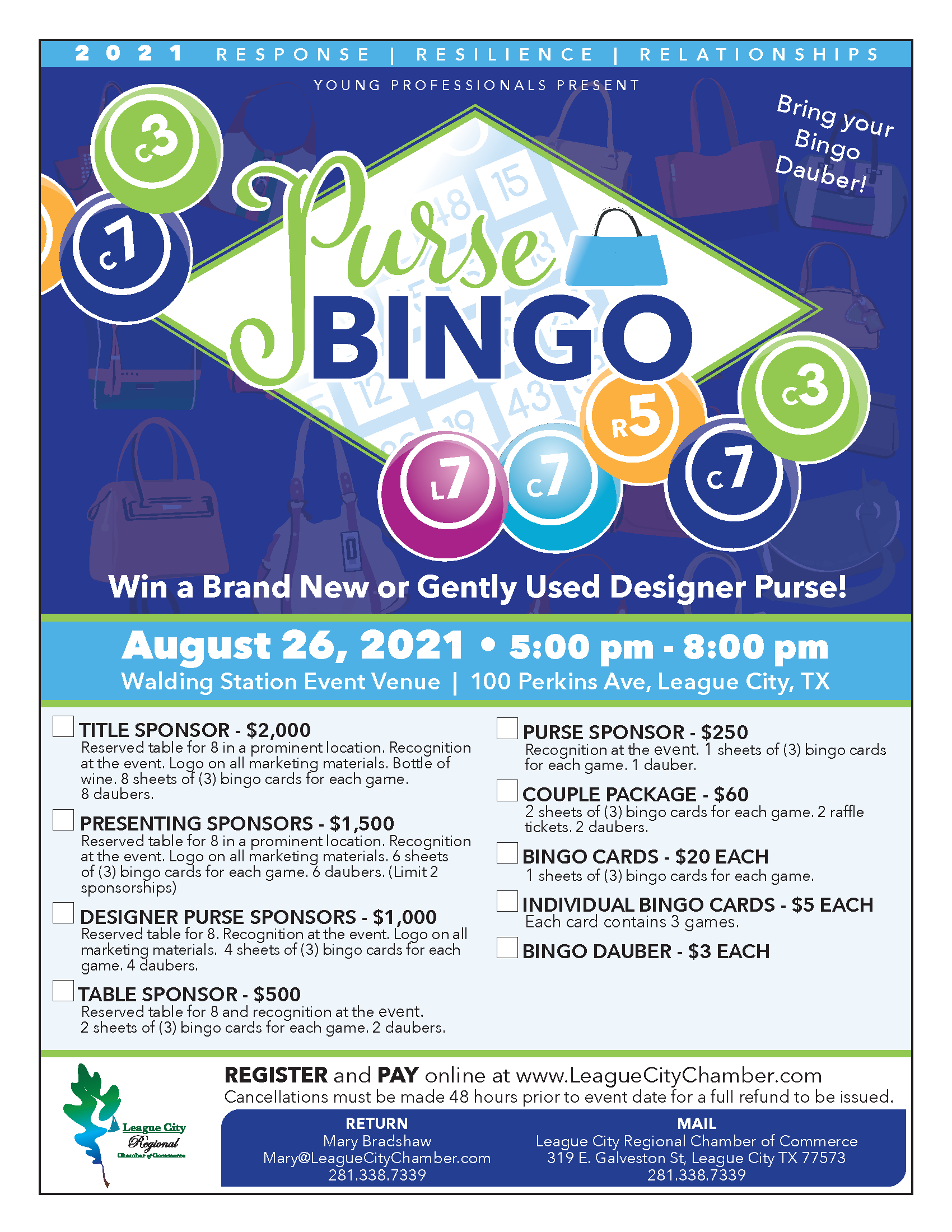 Image for Have fun at Chamber Young Professionals' Purse Bingo!