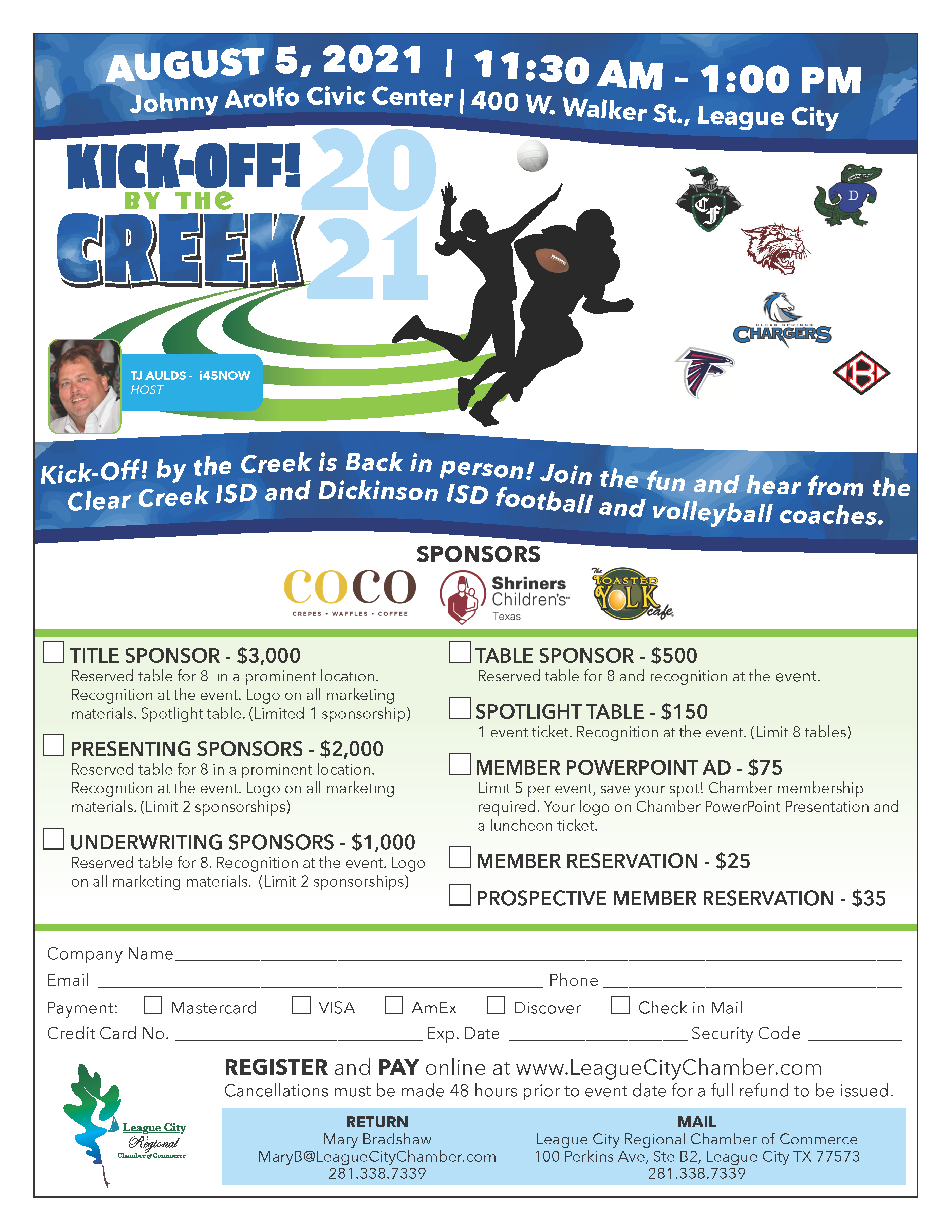 Image for Celebrate High School Sports With Kickoff By the Creek