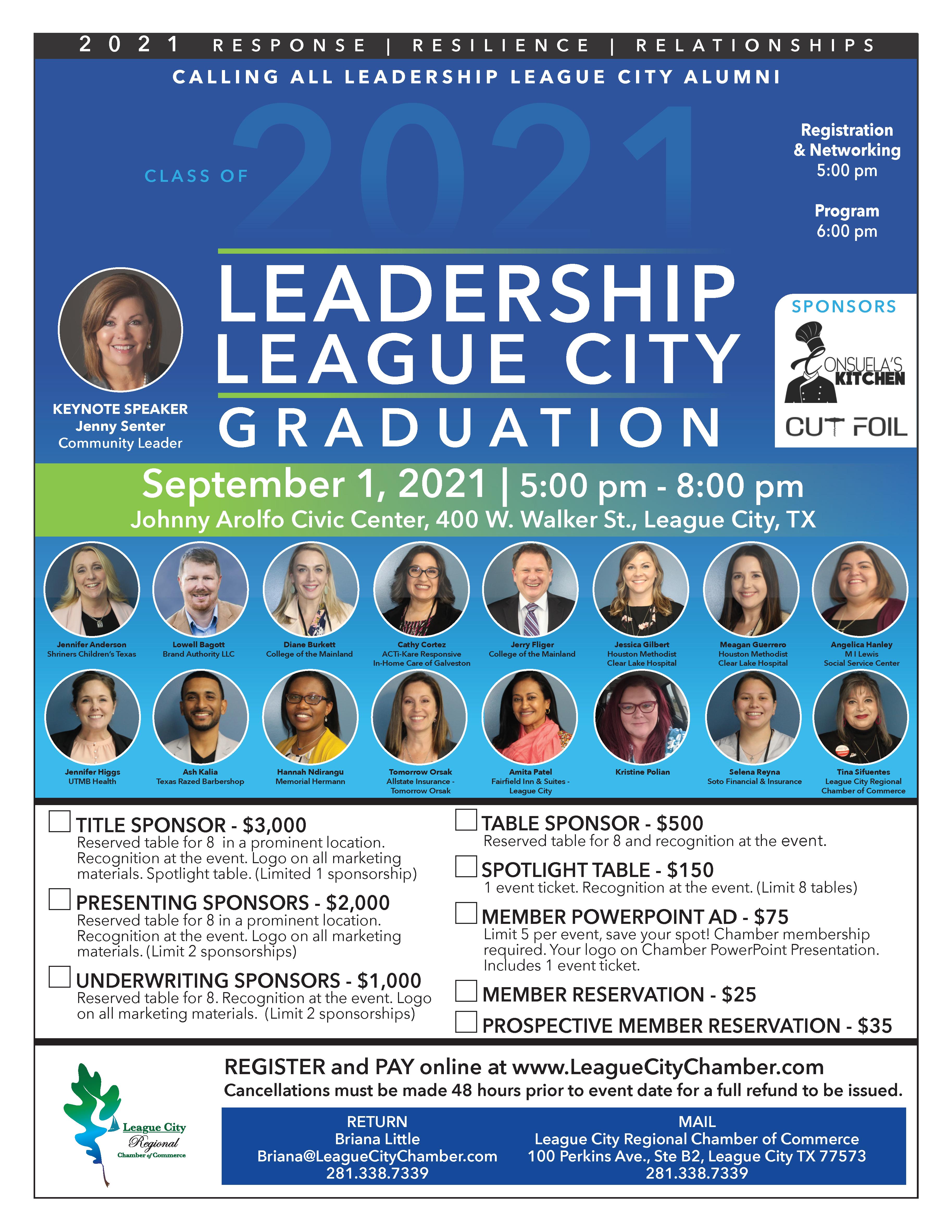 PRESS RELEASE: Attend the Leadership League City Graduation!