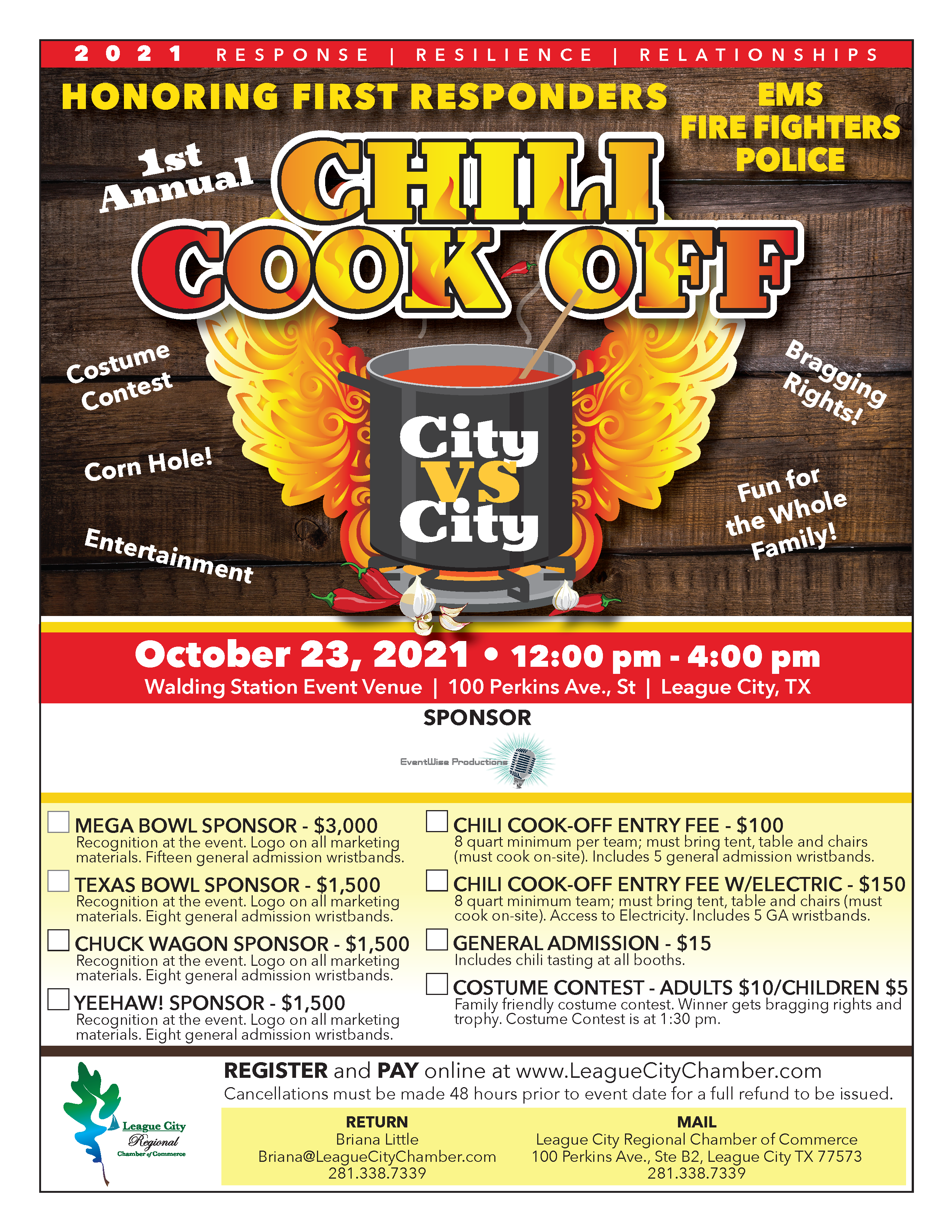 Image for PRESS RELEASE: League City Regional Chamber of Commerce to host first ever Chili Cook Off