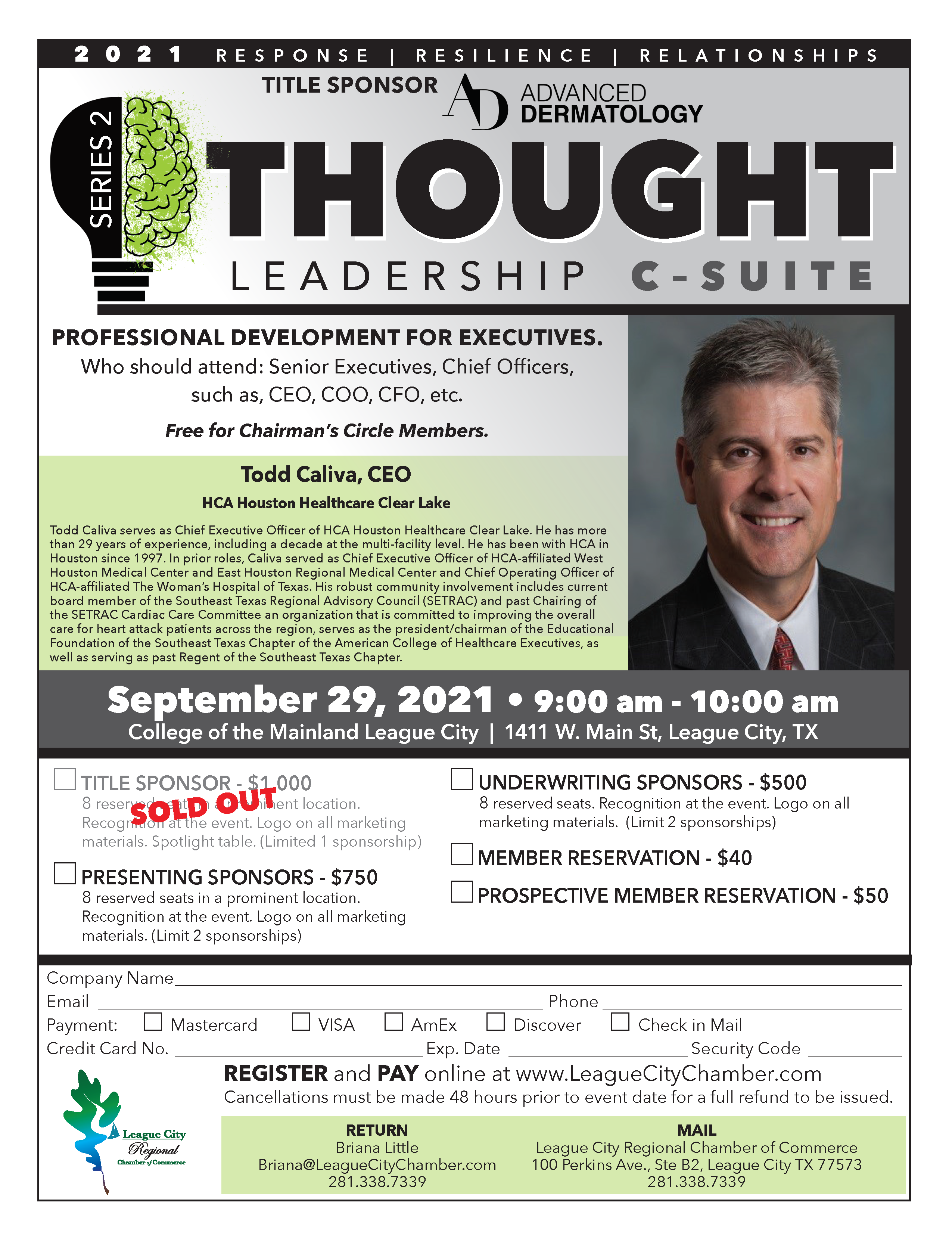 Image for PRESS RELEASE: Be the lead attendee at Thought Leadership From the C-Suite!