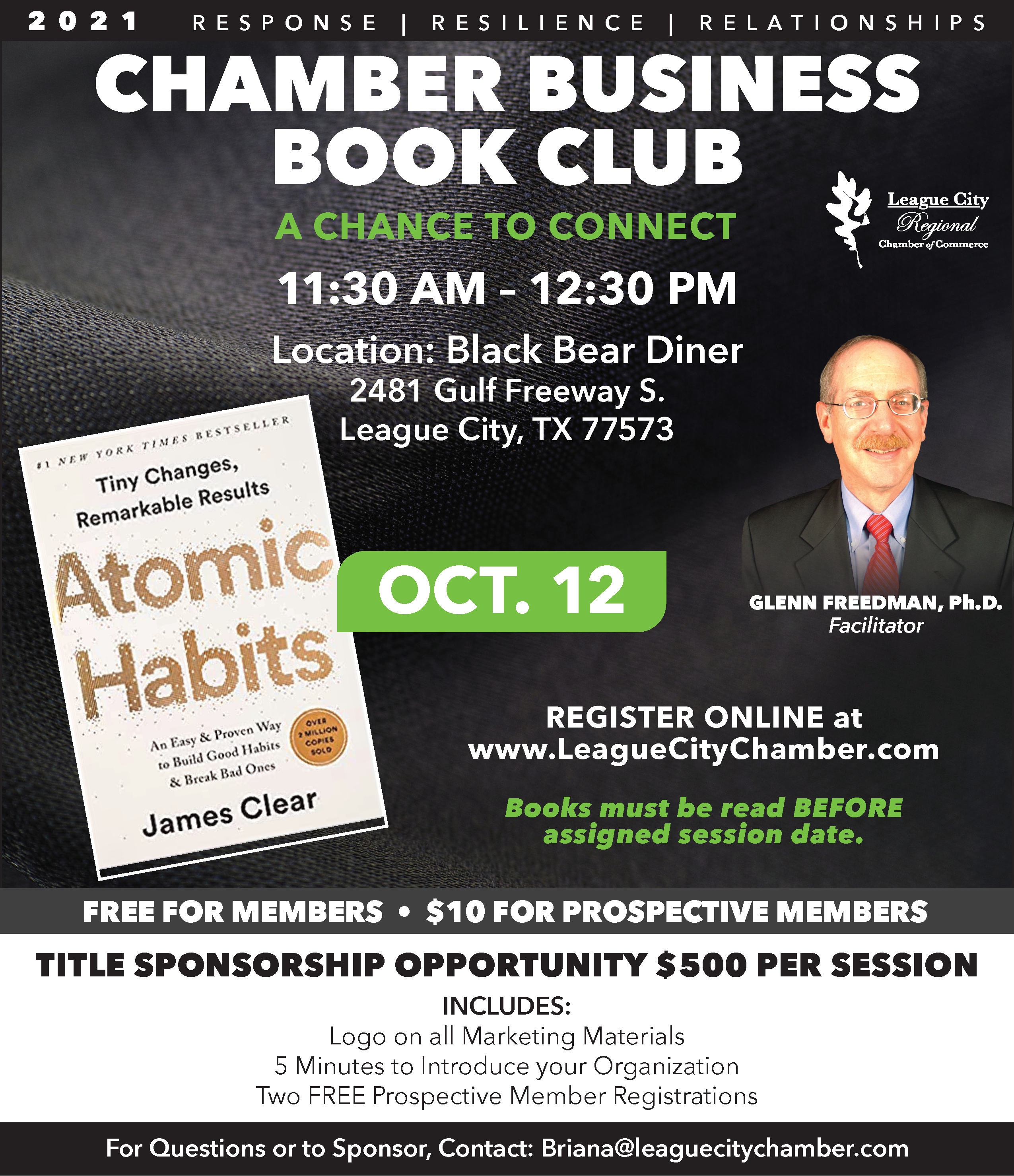 Image for PRESS RELEASE:  League City Regional Chamber of Commerce Book Club Returns!