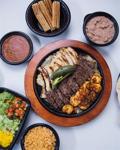 Fresh fajitas catered and delivered