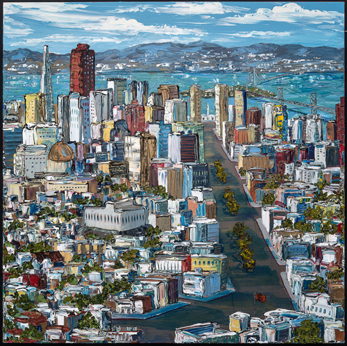 San Francisco Urban Landscape painting by Sue Averell.