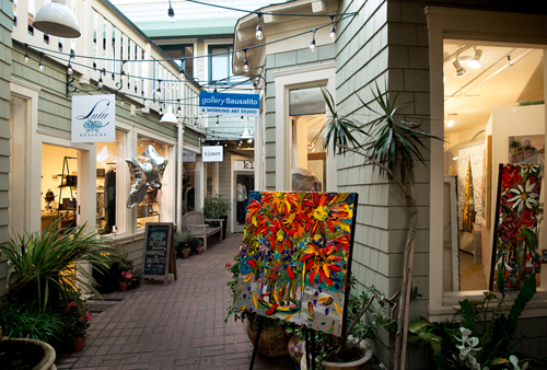 The gallery is located in Princess Court with several, wonderful, boutique shops.