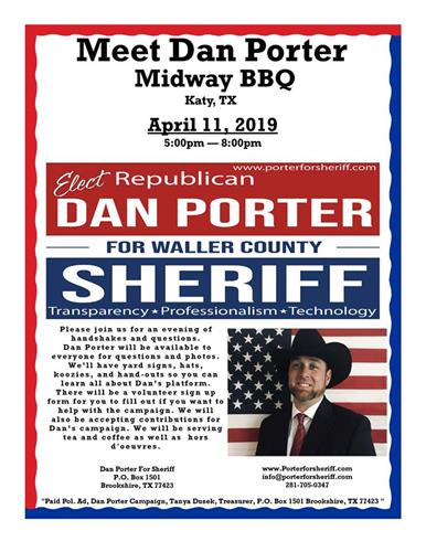 Come meet Dan Porter on April 11th