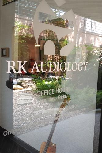 RK Audiology Window