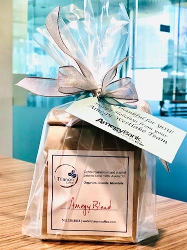 Trianon's coffee customer appreciation gift