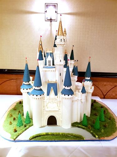 Disney Cinderella Castle anniversary cake