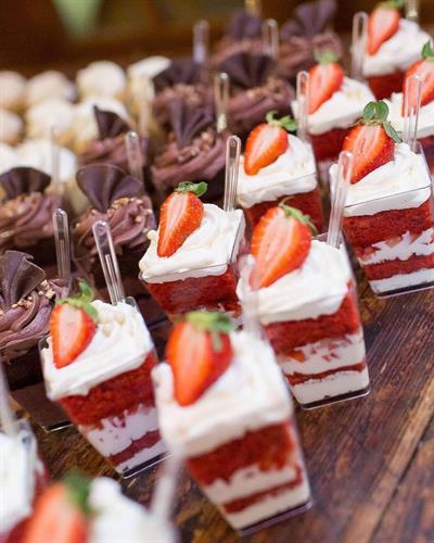 Red Velvet cake parfaits