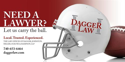 Dagger Law Football Ad