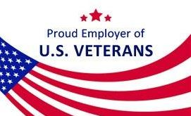 Proud employer of U.S. Veterans