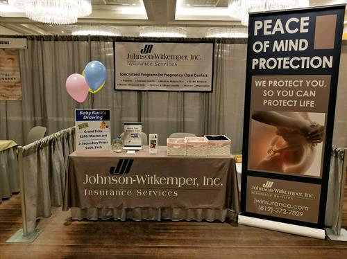 Retractable Banner Display and Table throw