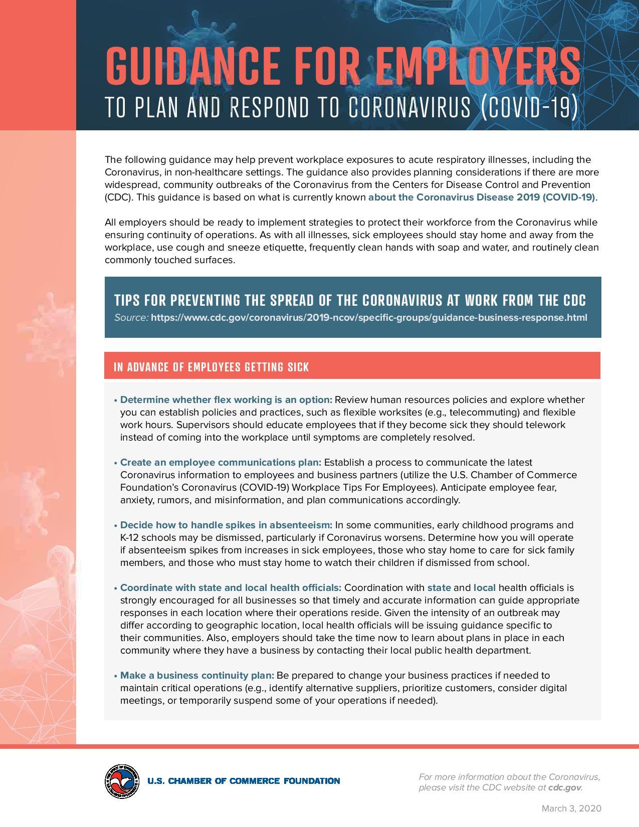 Coronavirus Business Resources