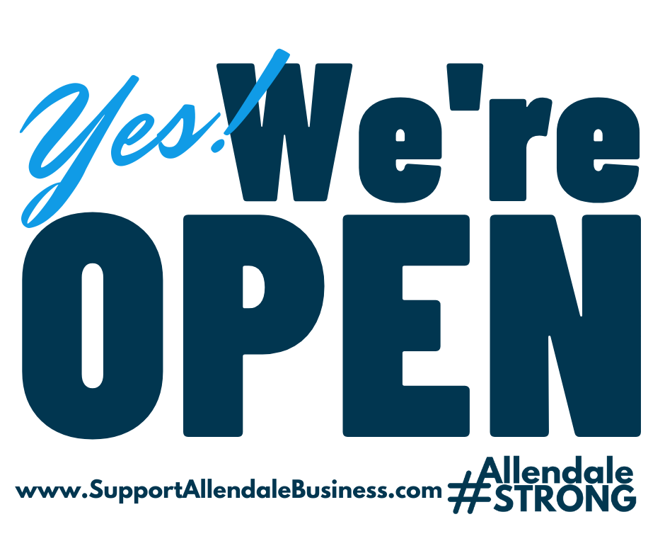 Yes! We're Open #AllendaleStrong