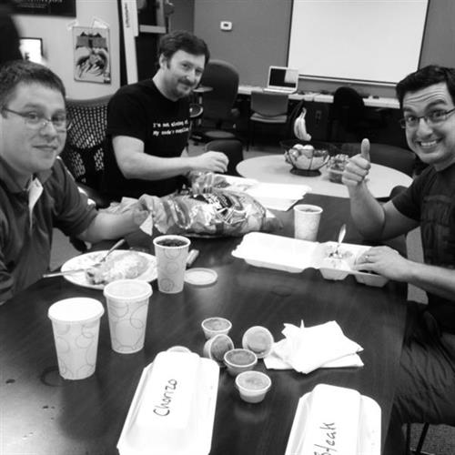 Some of the BizStream Developers enjoying lunch from Fajitas