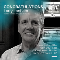 Larry Lanham of Polymer Packaging Named Entrepreneur of the Year® 2021