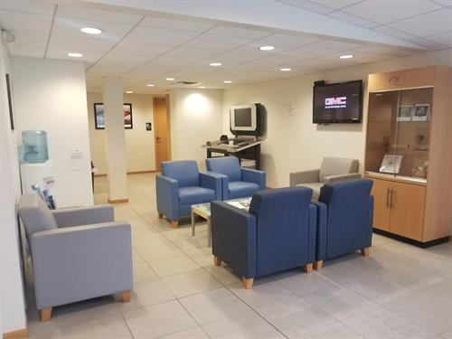 Our waiting area is a great place to hang out while you wait for your car!!