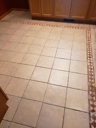 Grout restoration before
