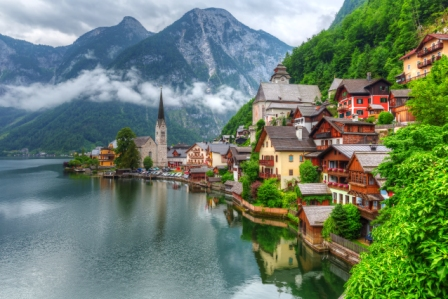 Switzerland - city by the Alps.