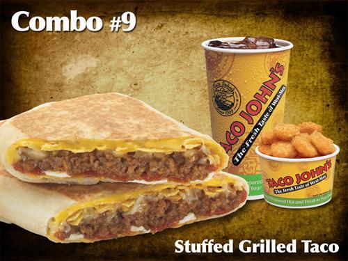 Stuffed Grilled Taco Combo