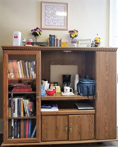 Coffee Station and Library