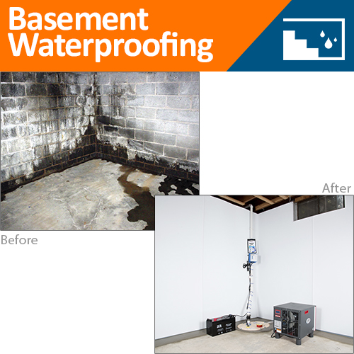 Before & After Basement Waterproofing
