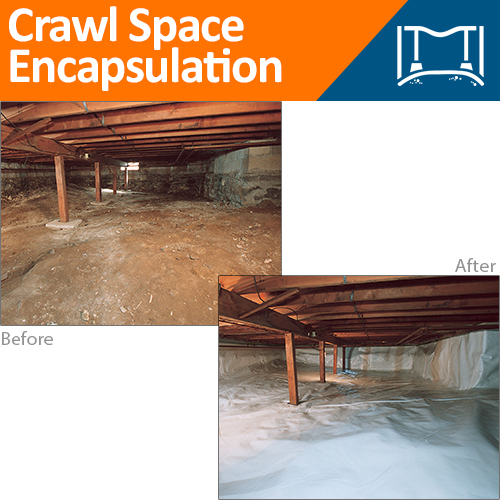 Before & After Crawl Space Encapsulation
